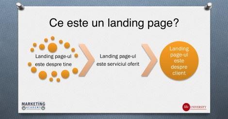 Landing page – (resursa pentru participantii la webinar)