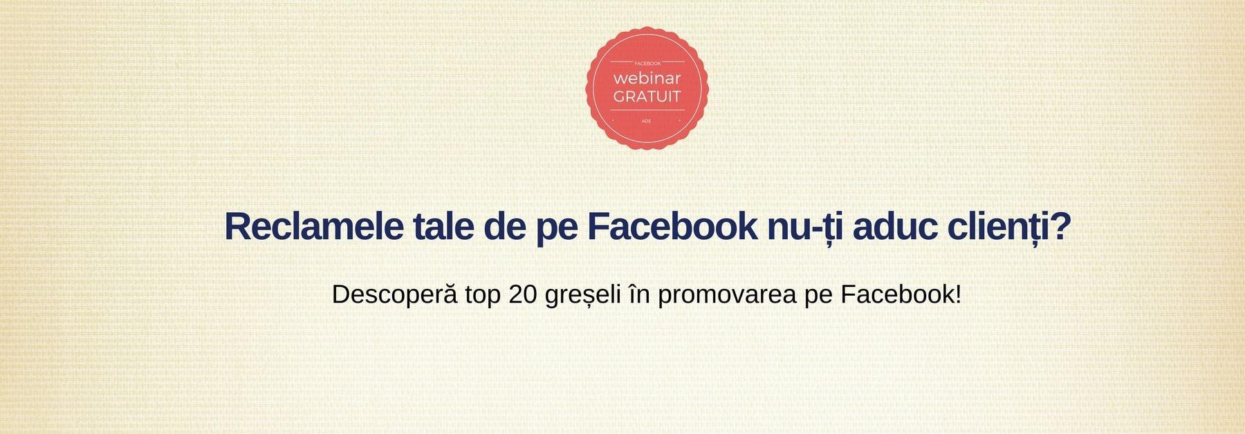 greseli promovarea pe facebook