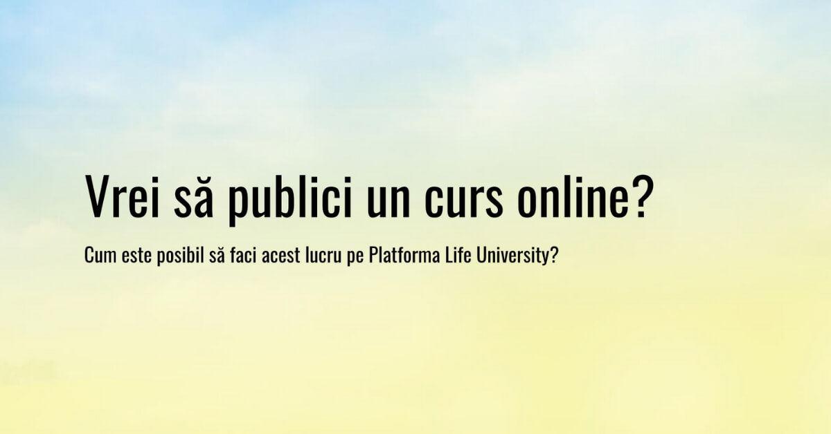 publicare articole pe platforma life university