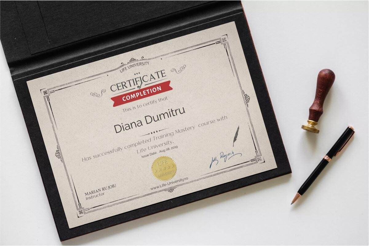 certificare curs formator online