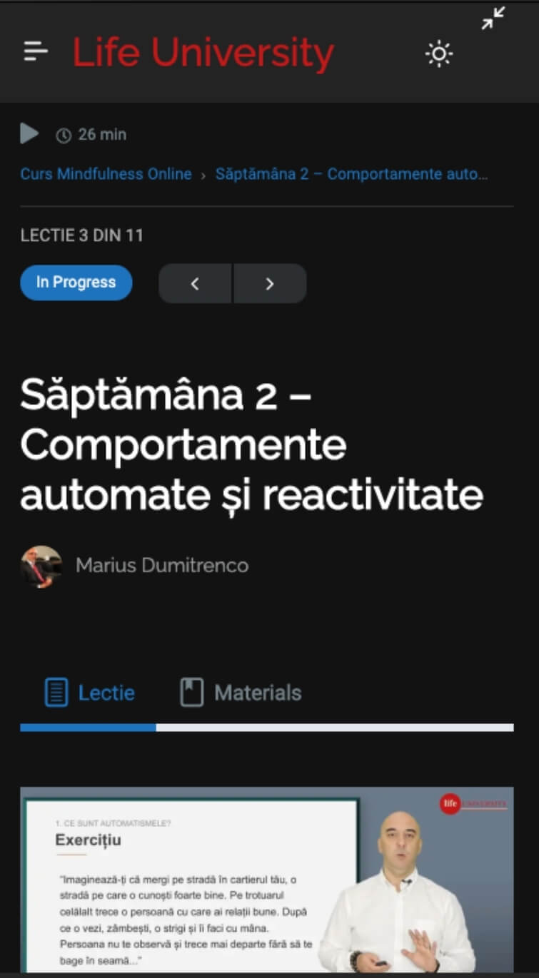 curs online dark mode