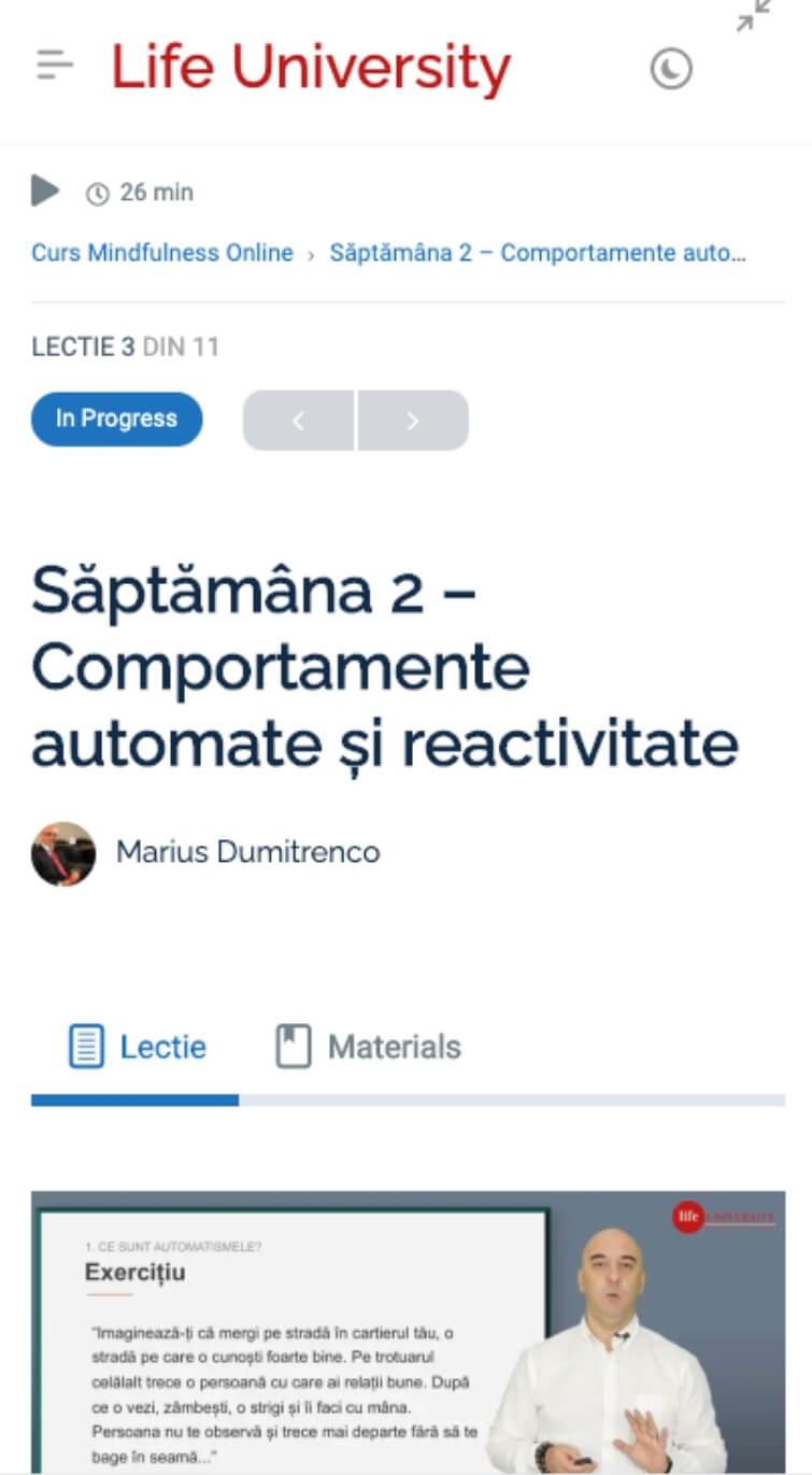 cursuri online mobile responsive