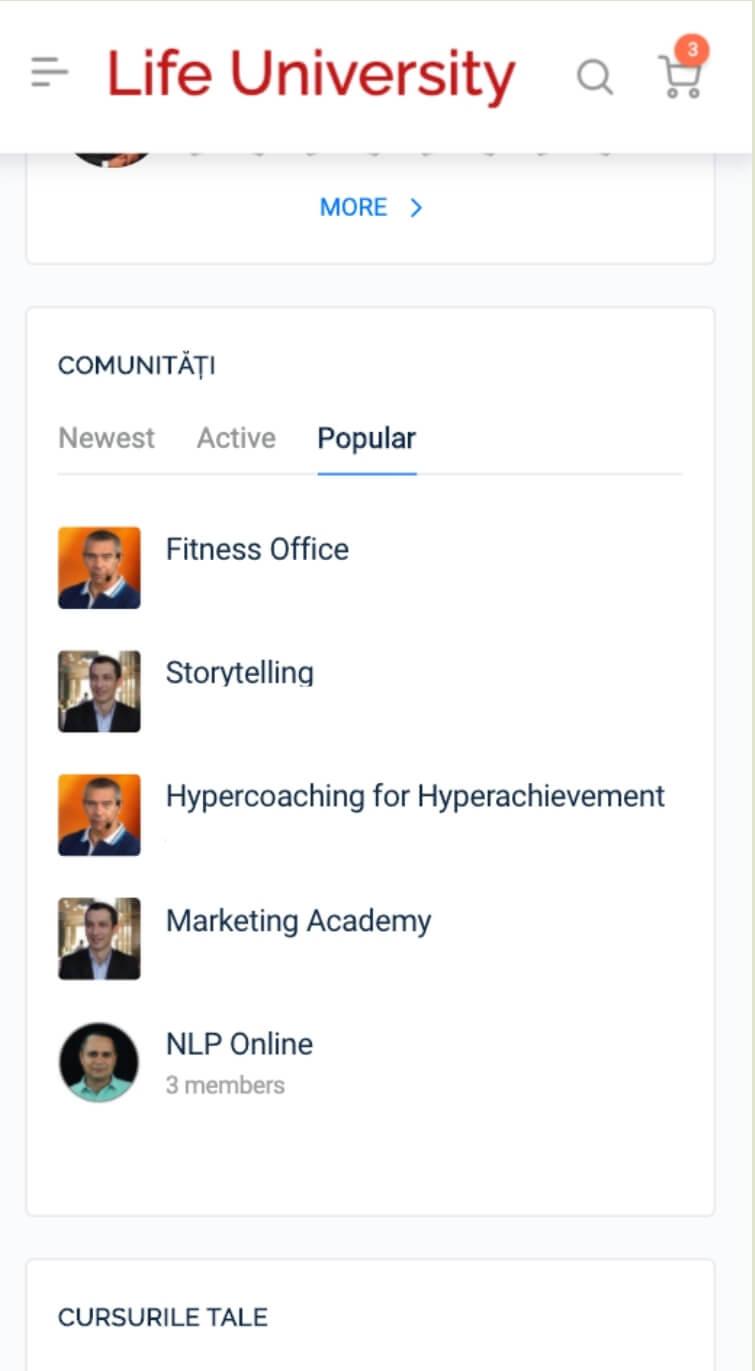 membrii comuunitate curs online