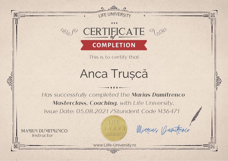 Certificare Curs Coaching